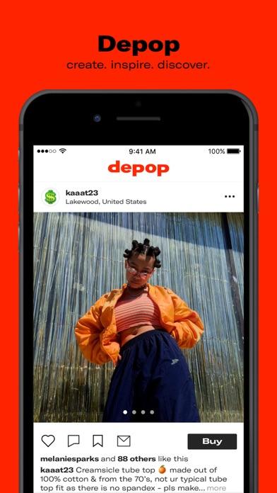 Depop review screenshots