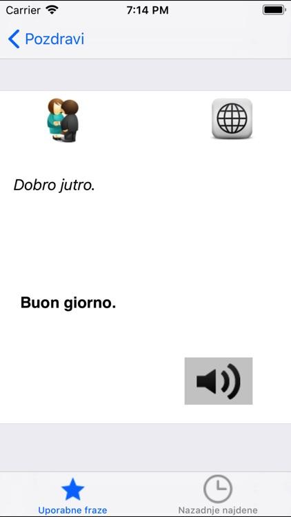 Frasi utili italiano-sloveno screenshot-3