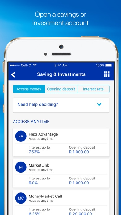 Screenshot for Standard Bank / Stanbic Bank in South Africa App Store