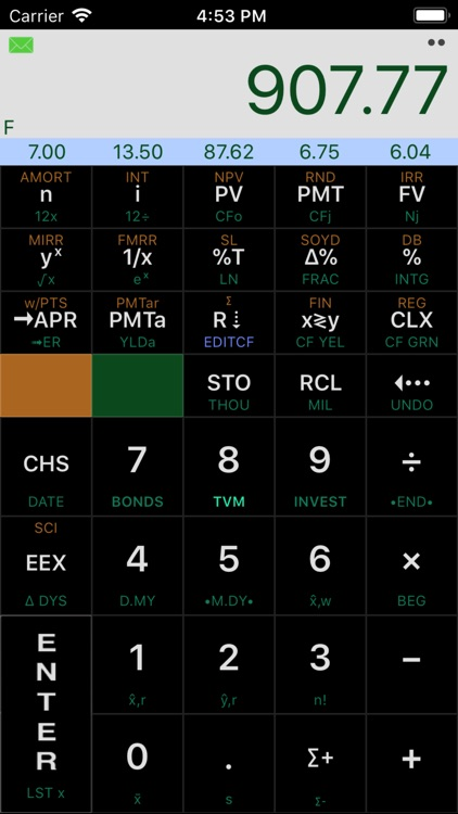 Calc-12E RPN Financial screenshot-3
