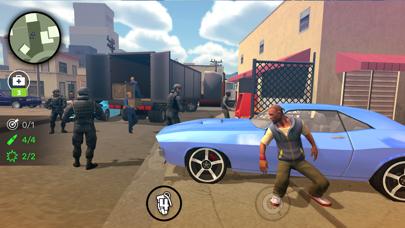 Foto do Gangster na cidade. Simulador.