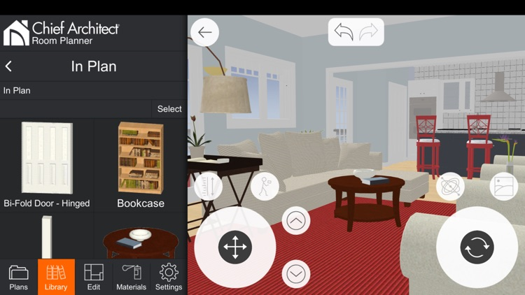 Room planner home design by chief architect for Take a picture of a room and design it app