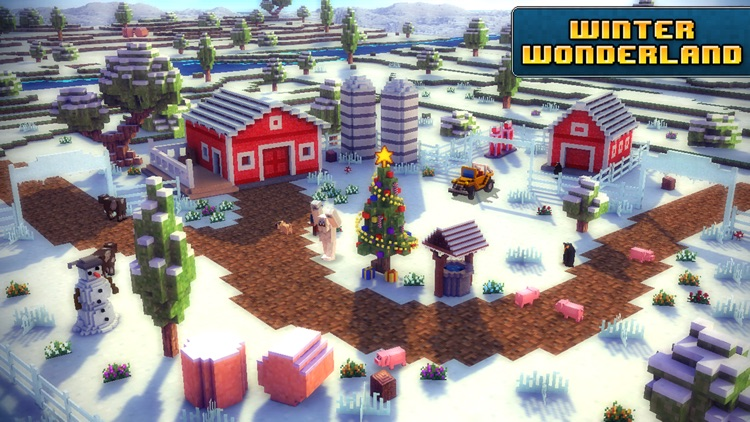 Blocky Roads Winterland screenshot-3