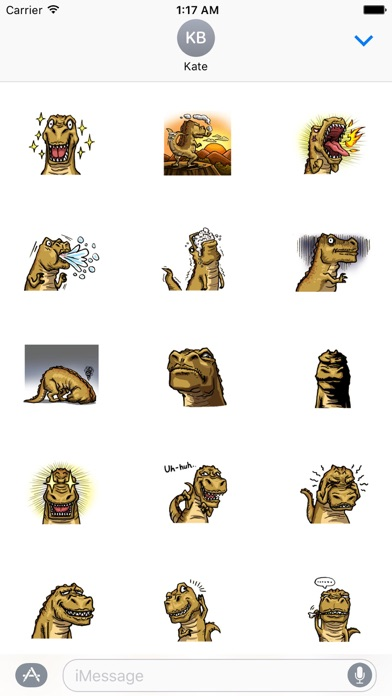 T-Rex a Cute Dinosaur Sticker screenshot 2