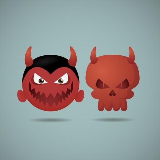 King of Vampire Stickers: Dracula vs Skull