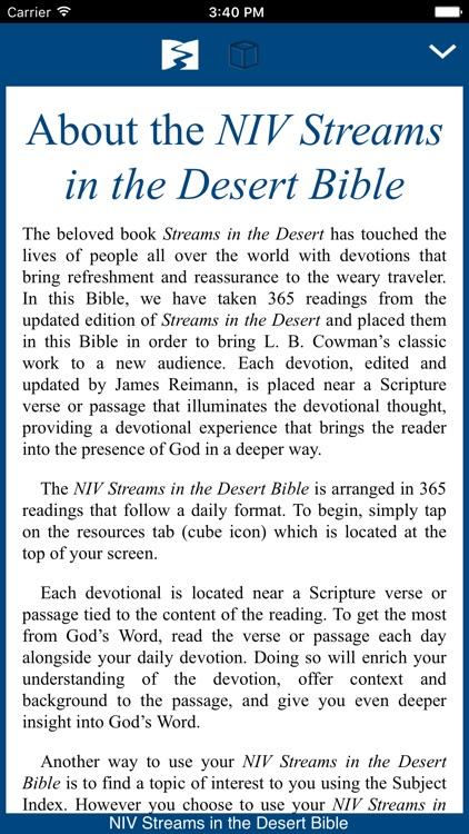 NIV Streams in the Desert Bible screenshot-0