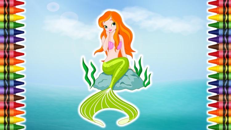 Coloring Book Mermaids