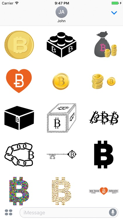 Bitcoin Currency Stickers
