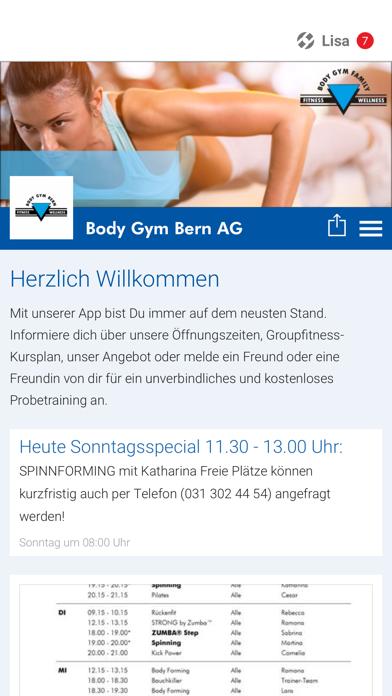 Body Gym Bern screenshot 1