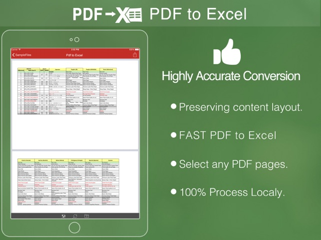 PDF to Excel on the App Store