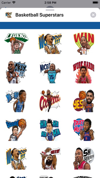 Screenshot for Basketball Superstars Stickers in United States App Store