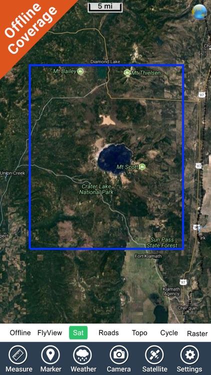 Crater Lake National Park gps and outdoor map screenshot-4