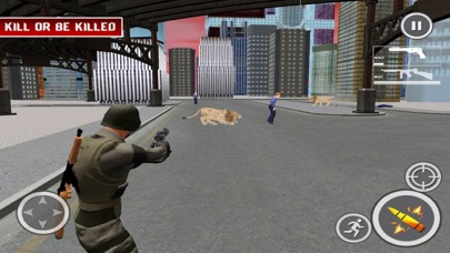 Lion Attack City:Shoot Mission screenshot three