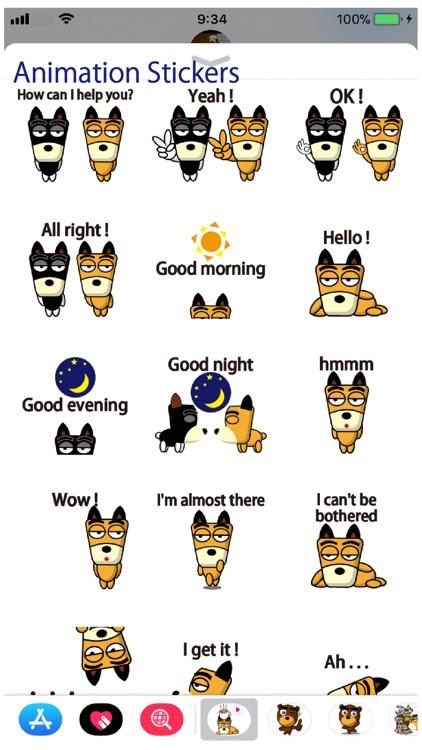 TF-Dog Animation 7 Stickers