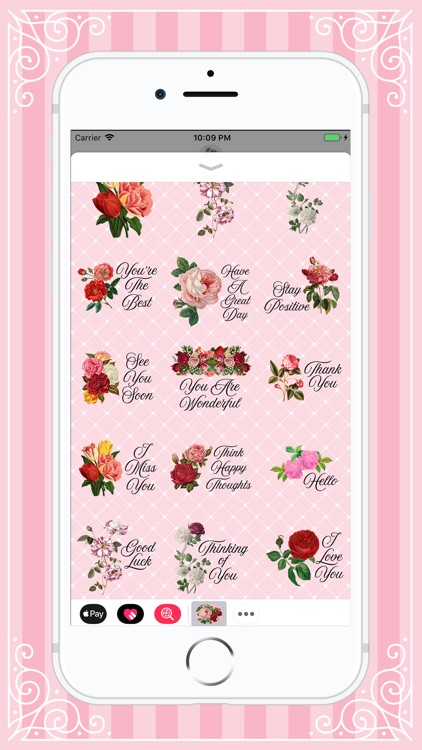 Lovely Bloom Flower Stickers screenshot-4