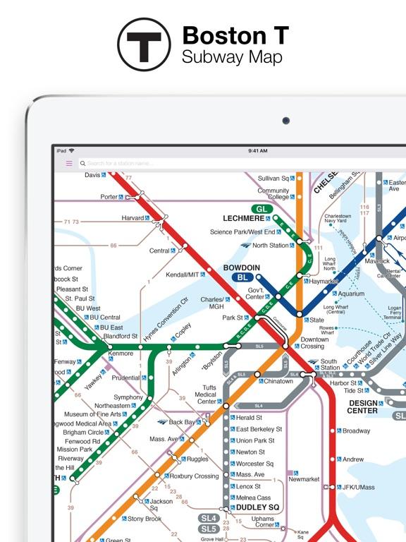 Boston T Map   MBTA subway map | App Price Drops
