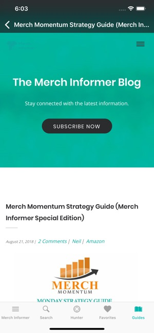 Merch Informer on the App Store