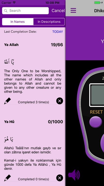 Dhikr Counter Platinum