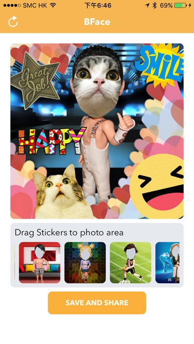 BFace - Bobblehead Face Emoji Stickers Maker screenshot four