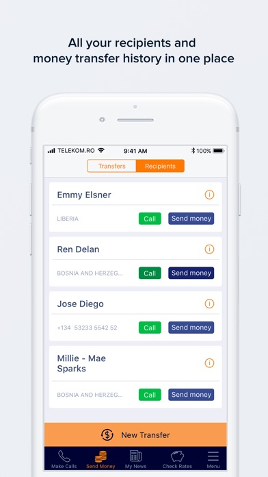 NobelApp Money Transfers+Calls
