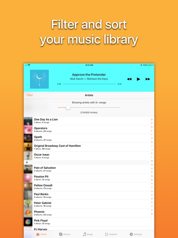 Screenshot #1 for Picky Music Player