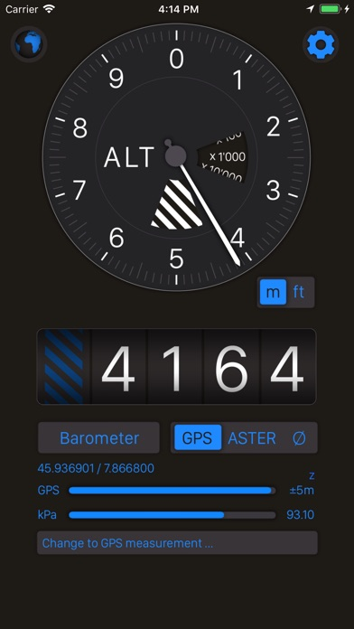 Altimeter review screenshots