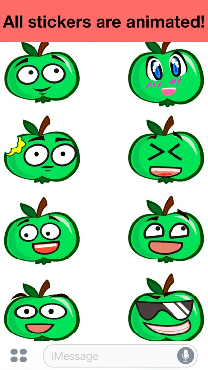 Apple animated - Cute stickers screenshot-1