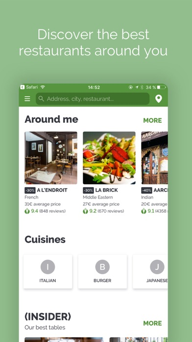 TheFork - Restaurants bookings for Windows