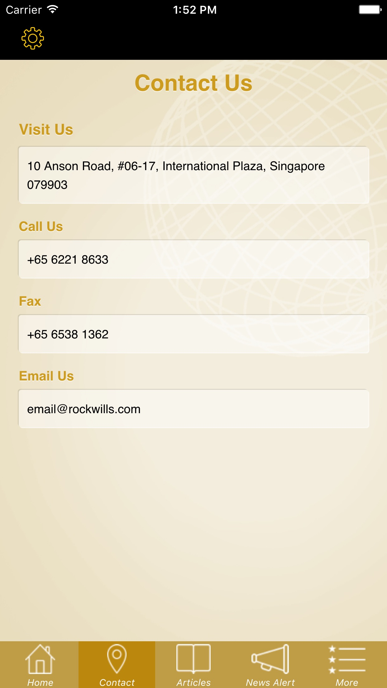 Rockwills Singapore Screenshot
