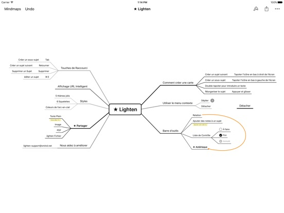 Screenshot #5 pour Lighten: Mind Mapping by XMind