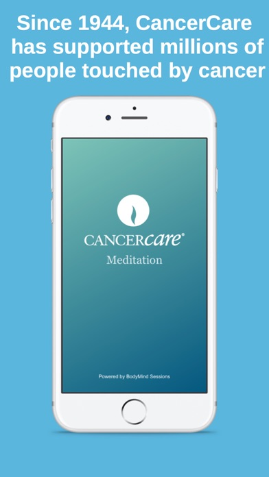 CancerCare Meditation screenshot one