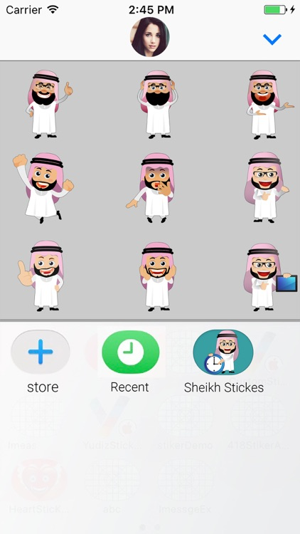 Arabic Avatar Animated Sticker screenshot-3