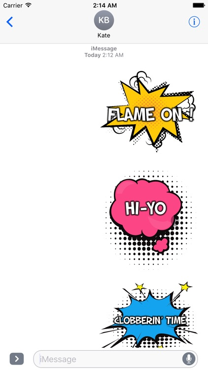 Say It Like A Comic Book Hero - Action Stickers screenshot-3