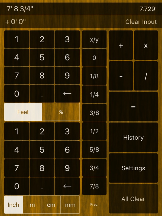 Feet Inches Calculator On The App Store