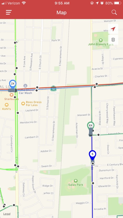 DoubleMap Bus Tracker screenshot-3