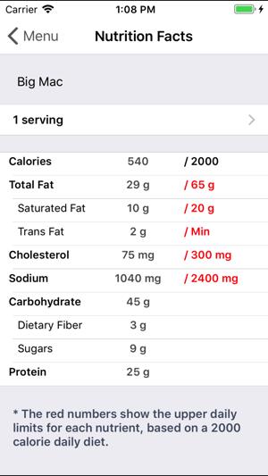 bww nutrition calculator