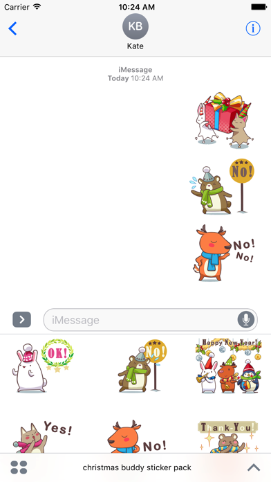 christmas buddy sticker pack screenshot one
