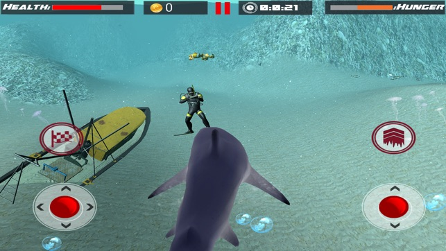 great white shark attack sim on the app store