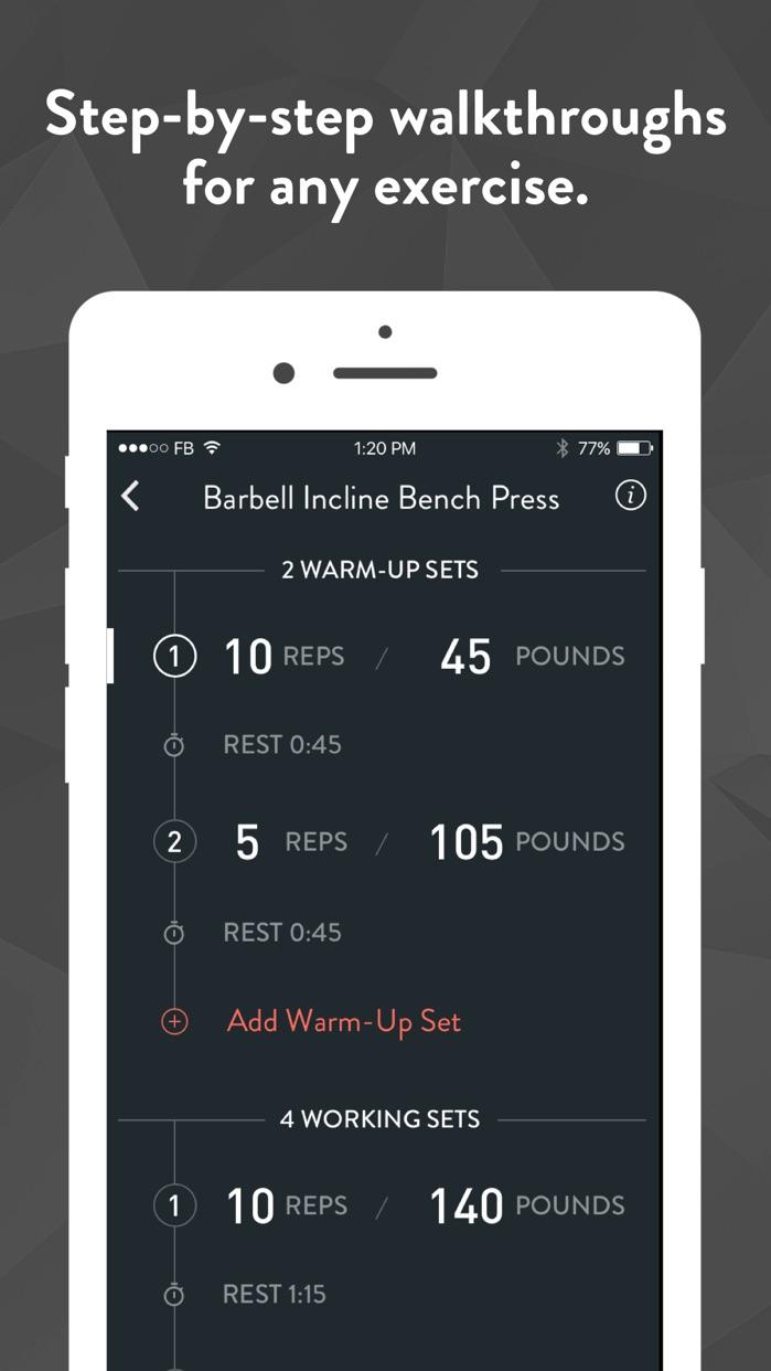 Fitbod Weight Lifting Trainer Screenshot