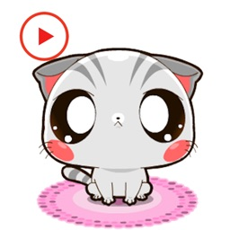 Animated Cat Kitty Stickers