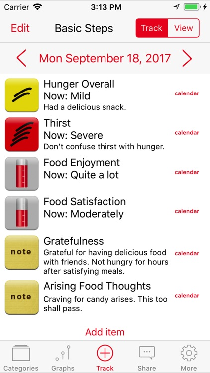 Mindful Eating Tracker