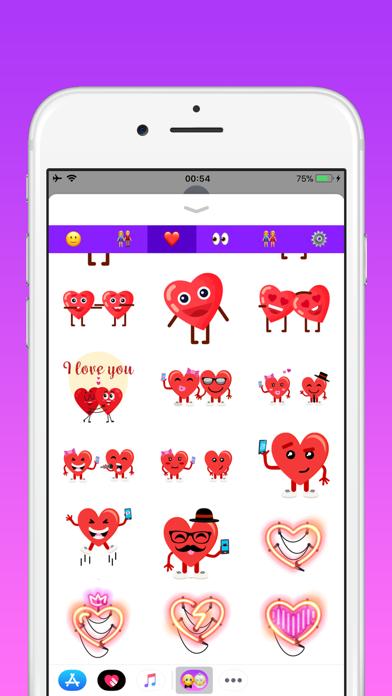 カップルのための愛の絵文字のスクリーンショット5