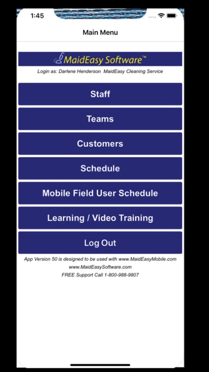 MaidEasy Software Mobile App