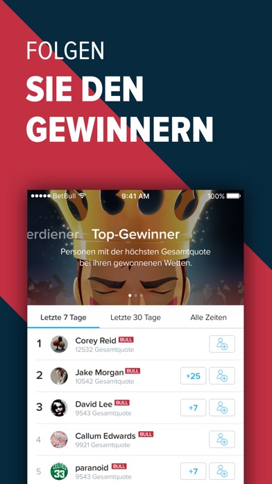 Screenshot for BetBull - Sportwetten & Tipps in Germany App Store