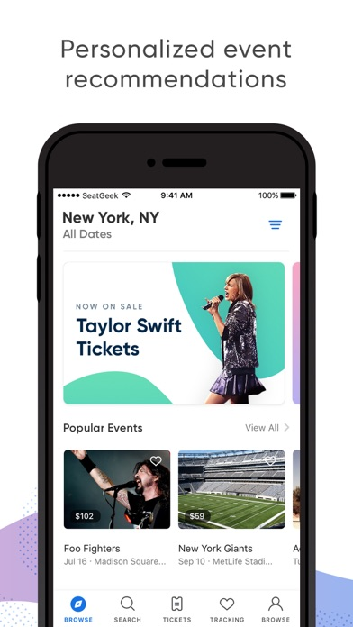 Seatgeek review screenshots