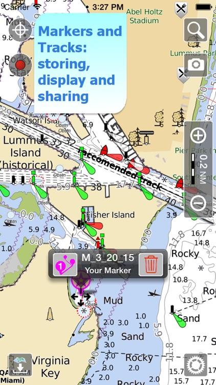 Aqua Map US Canada, Marine GPS screenshot-3
