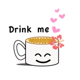 CaffeLatte - Cute Cup of Coffee Emoji Sticker