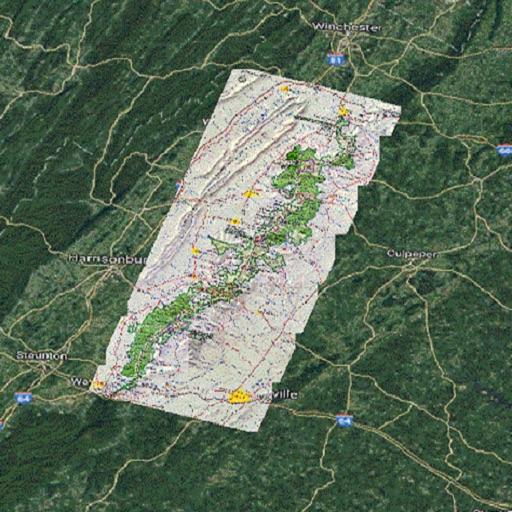 Skyline Dr Shenandoah Tour Map