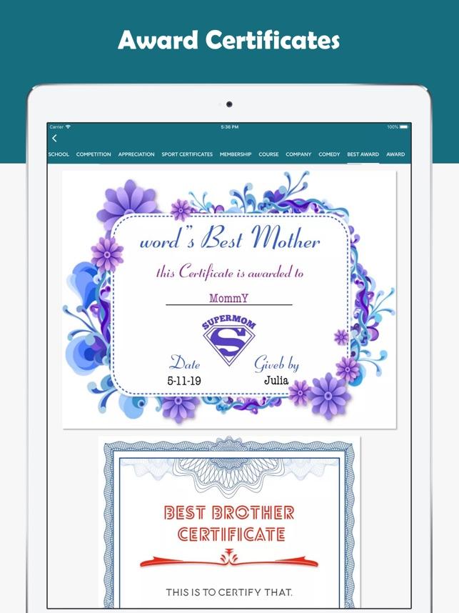 all certificate maker designer on the app store