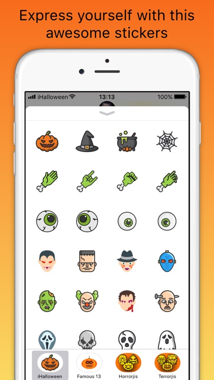 iHalloween scary stickers
